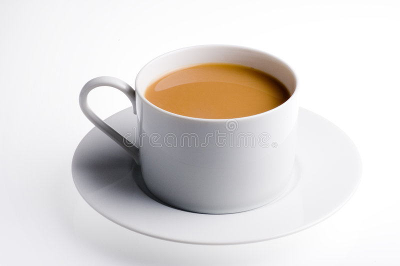 Getrenntes Cup englischer Tee lizenzfreie stockbilder