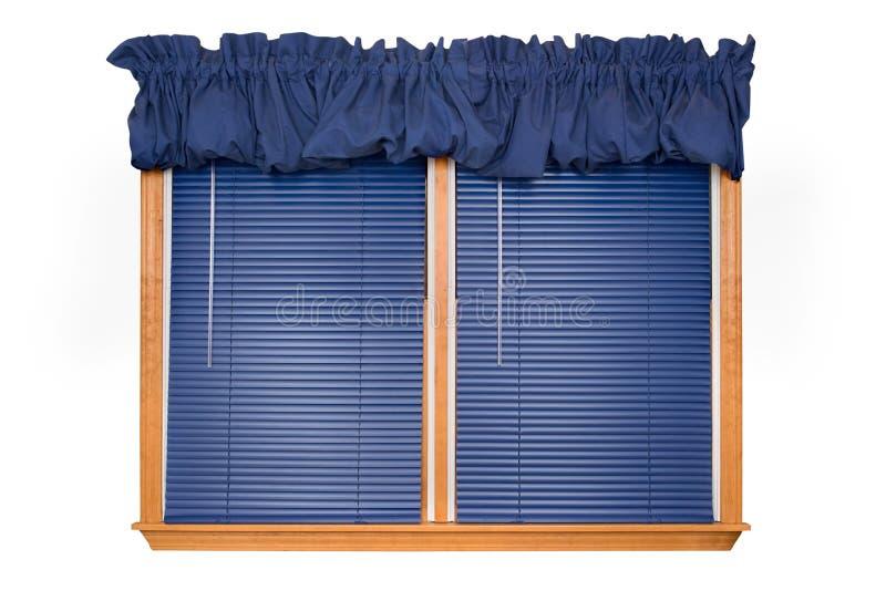 Getrenntes Fenster mit Vorhängen (Ausschnittspfad) stockfoto