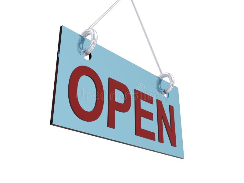 Getrenntes geöffnetes Zeichen lizenzfreie abbildung