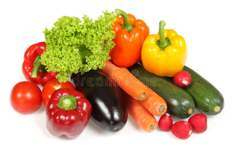 Getrenntes Gemüse lizenzfreie stockfotos