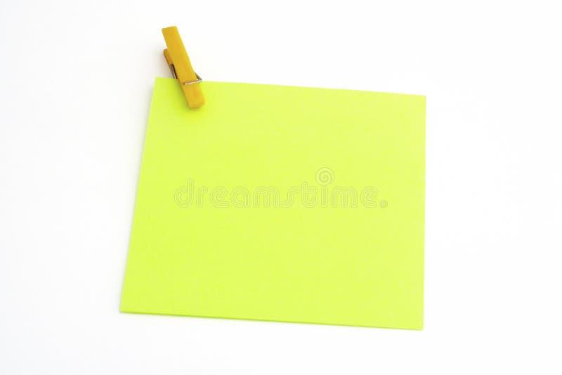 Getrenntes Grünbuch mit gelber Rohrschelle stockbilder