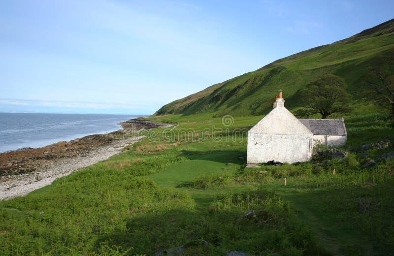 Getrenntes Häuschen Schottland lizenzfreies stockfoto