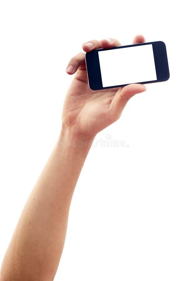 Getrenntes Handholdingsmartphone oder -telefon stockbilder