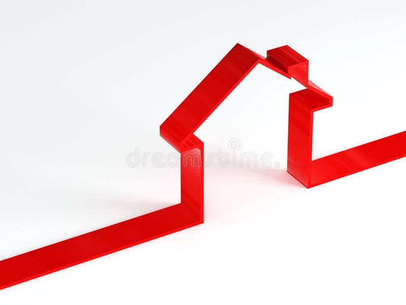 Getrenntes Haus lizenzfreie abbildung