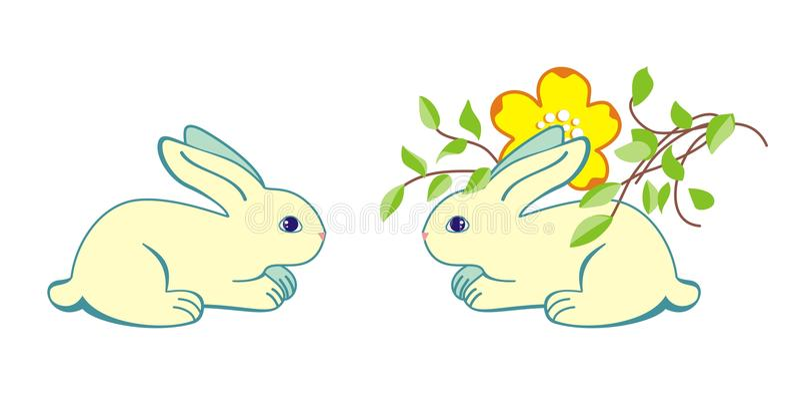 Getrenntes Kaninchen lizenzfreie stockfotos
