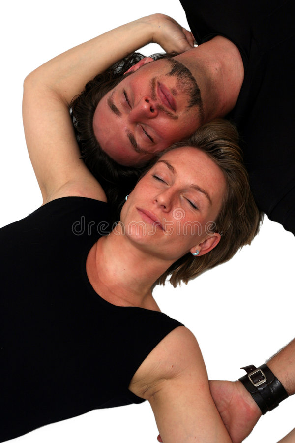 Getrenntes Paarschlafen stockfotos
