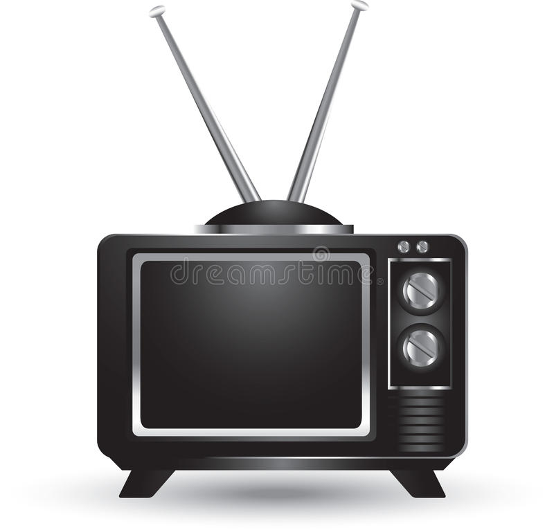 Getrenntes Retro- Fernsehen vektor abbildung