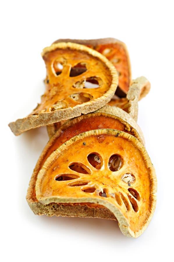 Getrocknete bael Frucht lizenzfreies stockbild