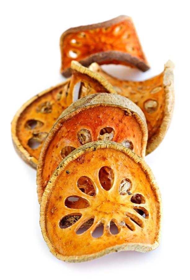 Getrocknete bael Frucht stockfotografie