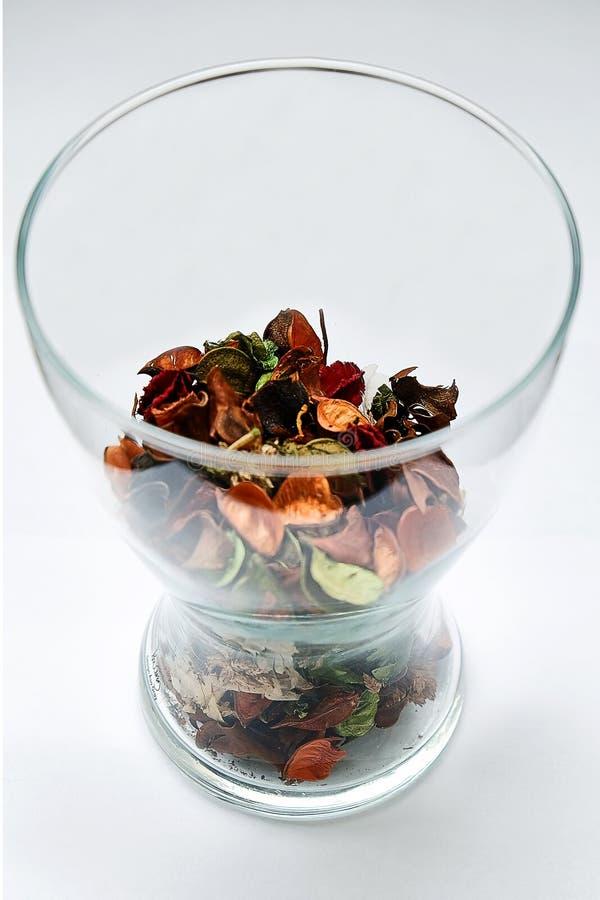 Getrocknete Blumenblumenblätter stockfotografie
