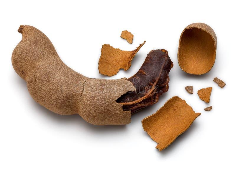 Getrocknete Tamarinden-Frucht lizenzfreies stockfoto