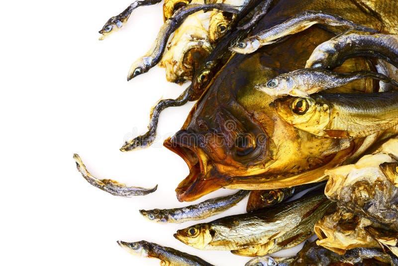 Getrocknete und geräucherte Fische stockfoto
