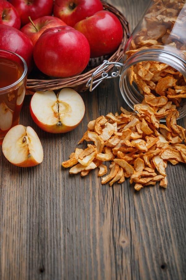 Getrockneter Apfel stockbild
