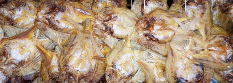 Getrockneter Fischhintergrund stockbilder