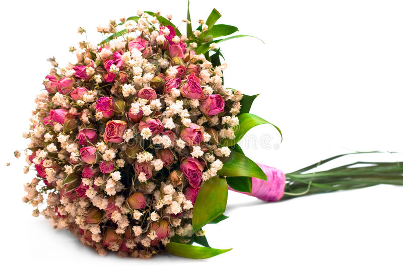 Getrockneter wedding Blumenstrauß lizenzfreies stockbild