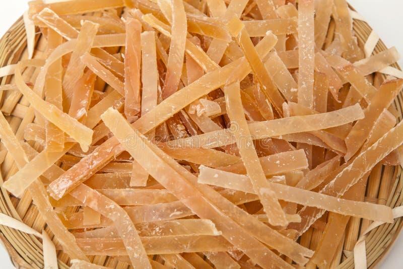 Getrockneter zerrissener Kalmar stockbild