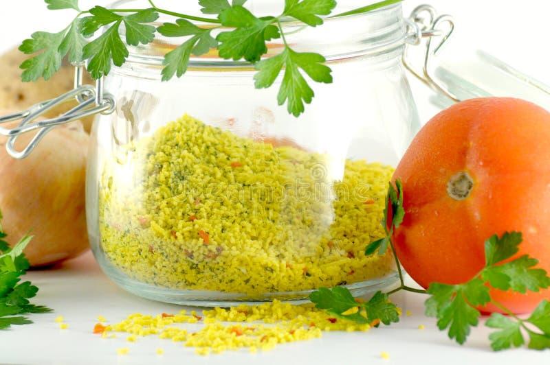 Getrocknetes Gemüse für schnelle Suppe lizenzfreies stockfoto