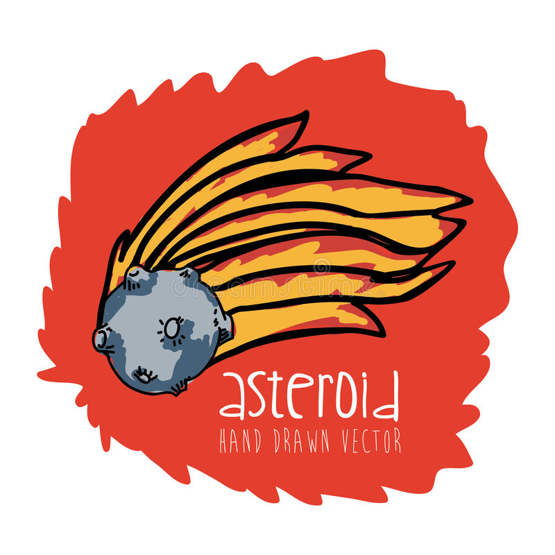 Getrokken asteroïde vector illustratie