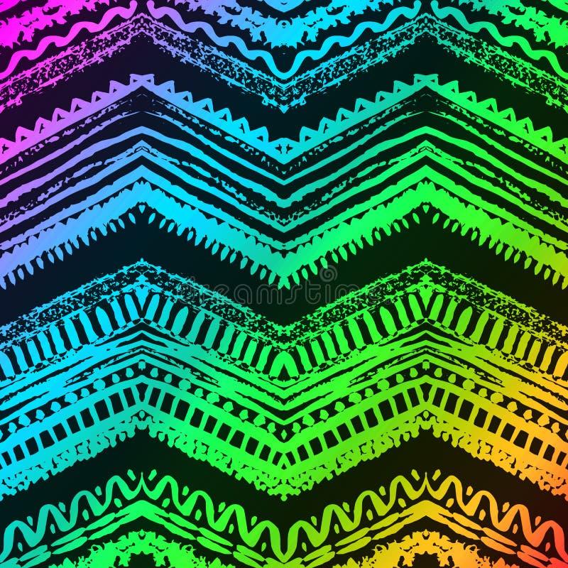 Getrokken de hand schilderde naadloos patroon Vector stock illustratie