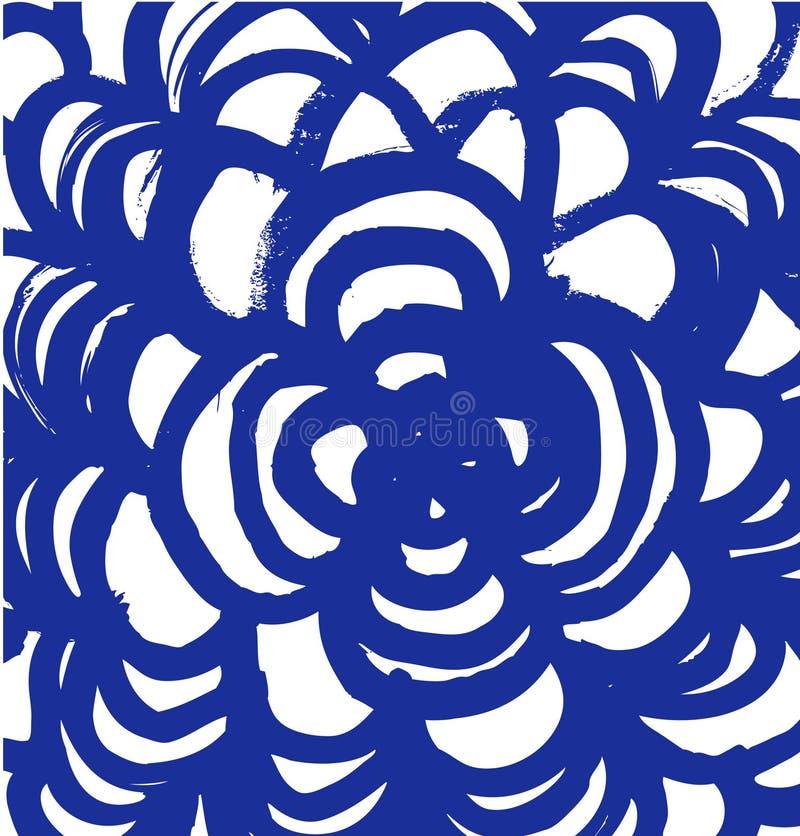 Getrokken mandala Abstracte grungetextuur royalty-vrije illustratie