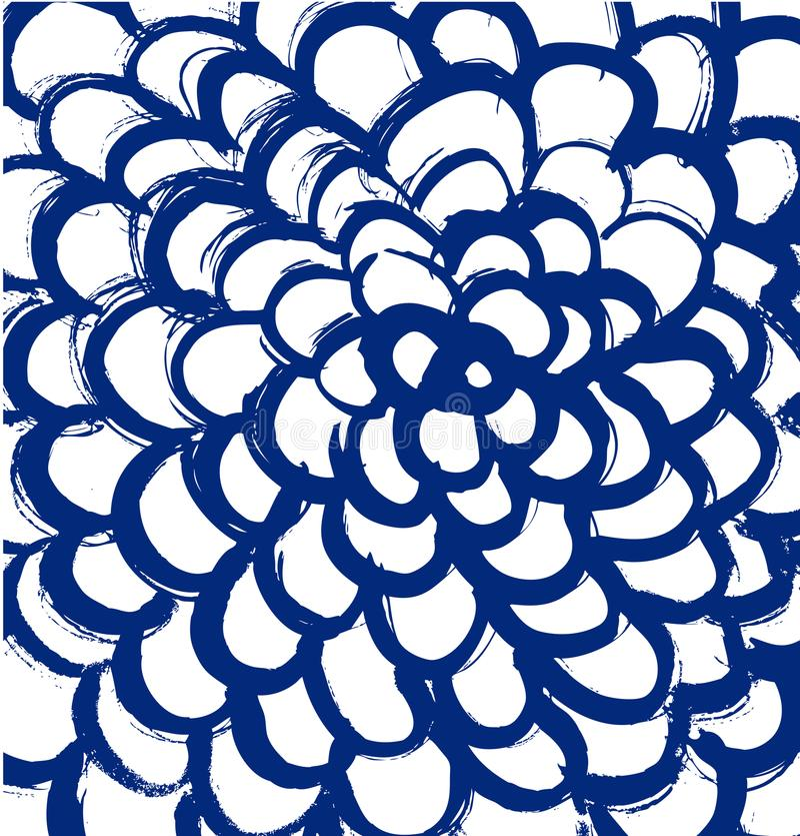 Getrokken mandala Abstracte grungetextuur vector illustratie
