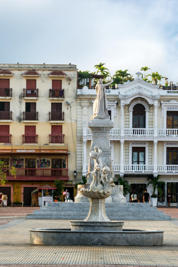 Getsemani-Nachbarschaft in Cartagena, Kolumbien stockfotos