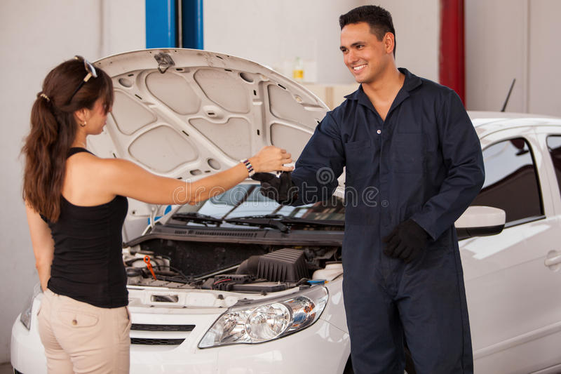 Download Getting Car Keys From A Customer Stock Image - Image: 33750805