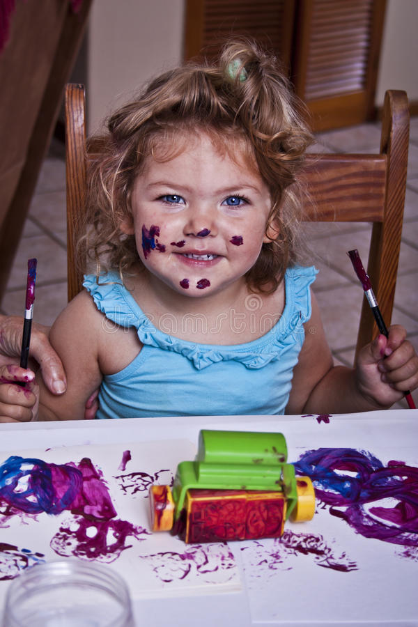 Download Getting Creative stock image. Image of mess, small, girl - 29479327