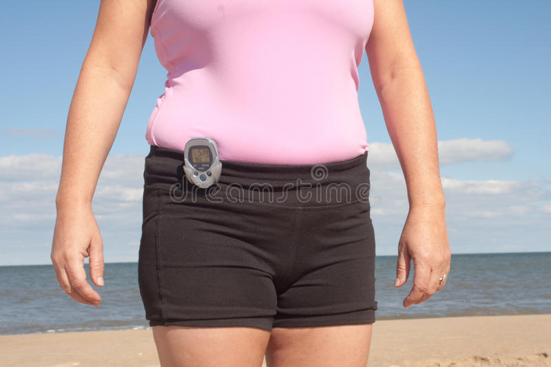 Getting Healthy Pedometer stock photography