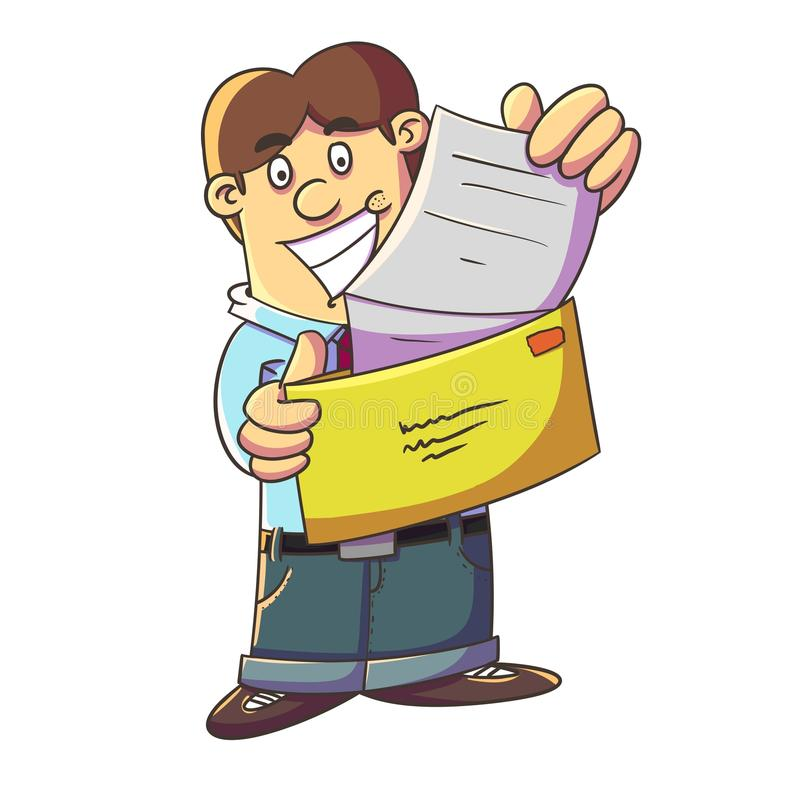Download Getting A Letter With Good News Stock Illustration - Image: 42312293
