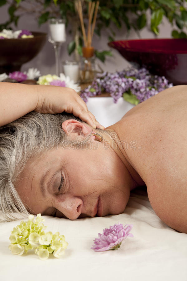Getting a massage royalty free stock images