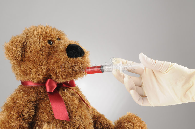 Download Getting medicine stock image. Image of teddy, trauma, cure - 4147735