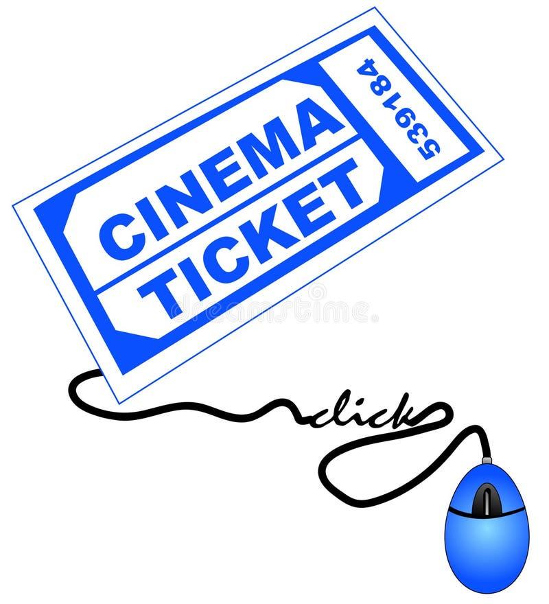 Getting movie ticket online royalty free illustration