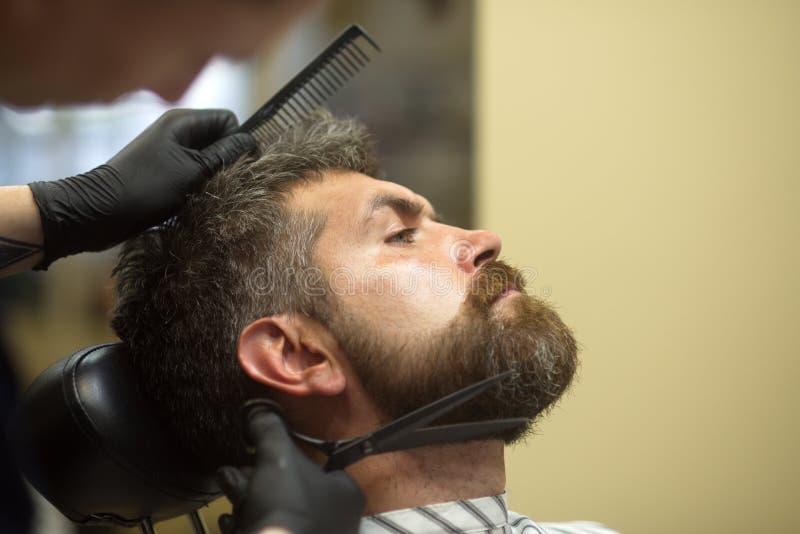 Getting perfect beard shape stock photography