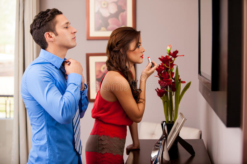 Getting ready for a date royalty free stock image