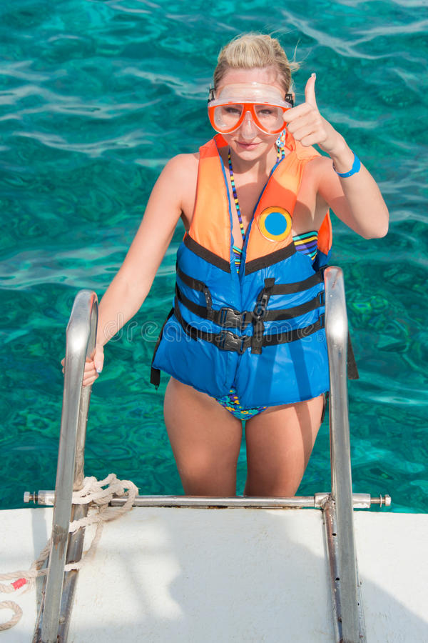 Download Getting ready for a diving stock image. Image of summer - 25451703