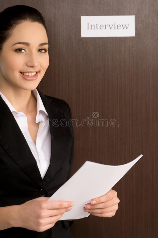 getting ready for interview stock photo