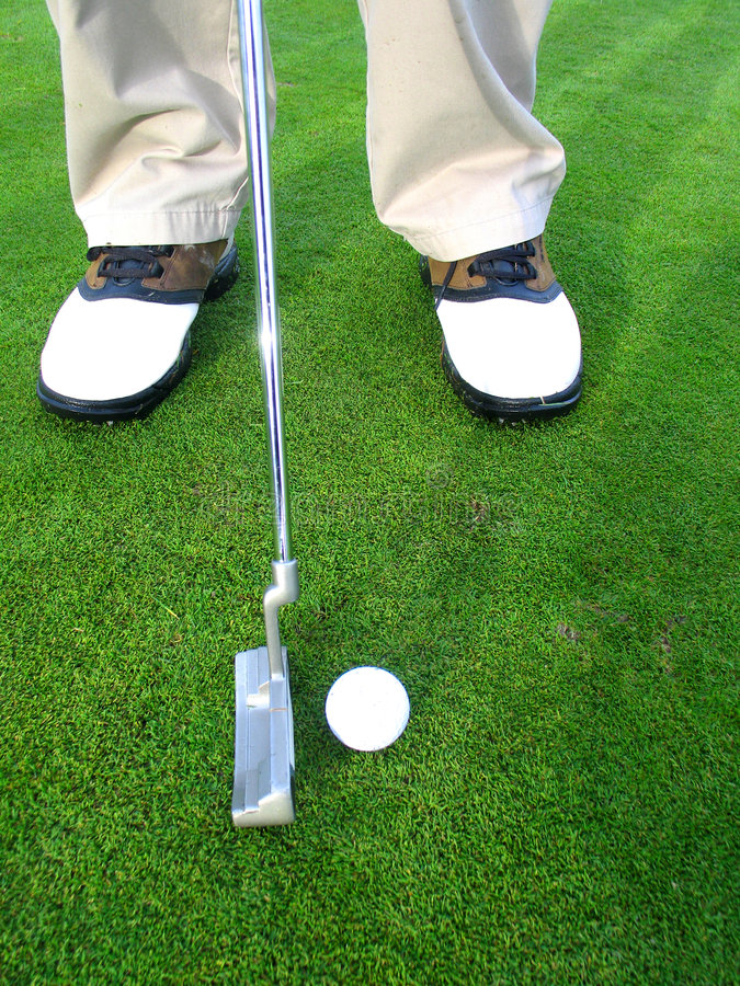 Download Getting ready to putt stock photo. Image of hole, putt - 2022702