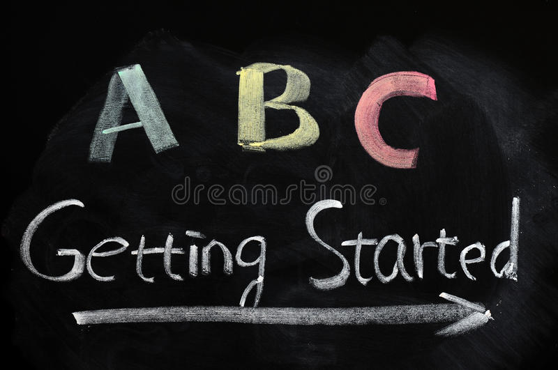 Getting started concept stock images