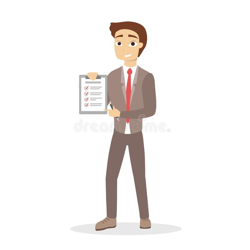 Getting things done. stock illustration