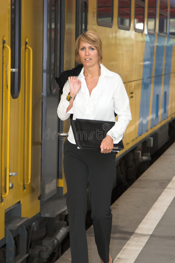 Download Getting on the train stock image. Image of public, moving - 970031