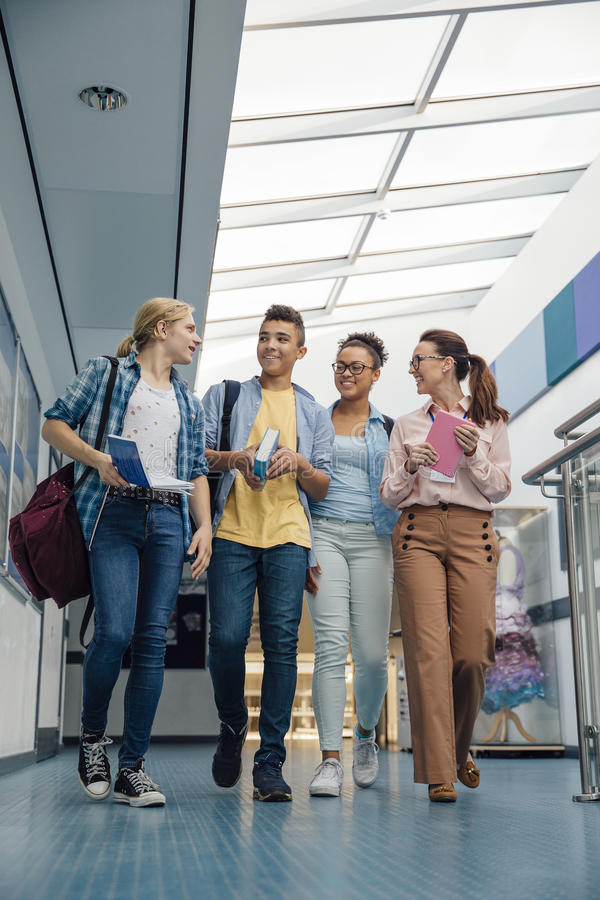Getting A University Tour stock image