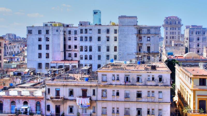 Getto budynki w Hawańskim, Kuba obrazy royalty free
