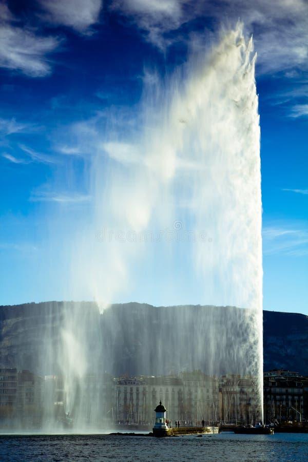 Getto di acqua di Ginevra fotografia stock