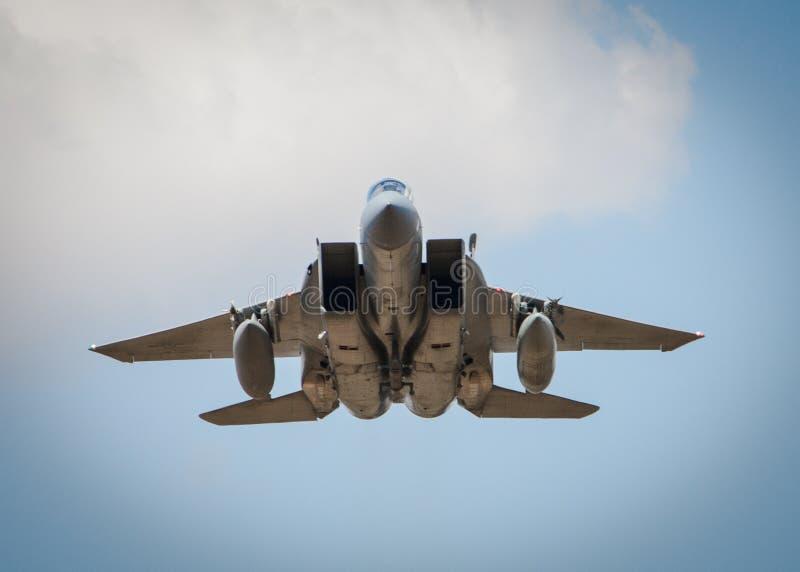 Getto F15 in volo fotografie stock libere da diritti