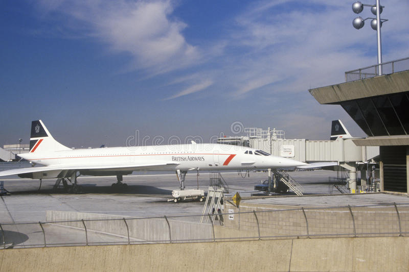 Getto supersonico di British Airways il Concorde a Kennedy Airport, New York immagini stock libere da diritti
