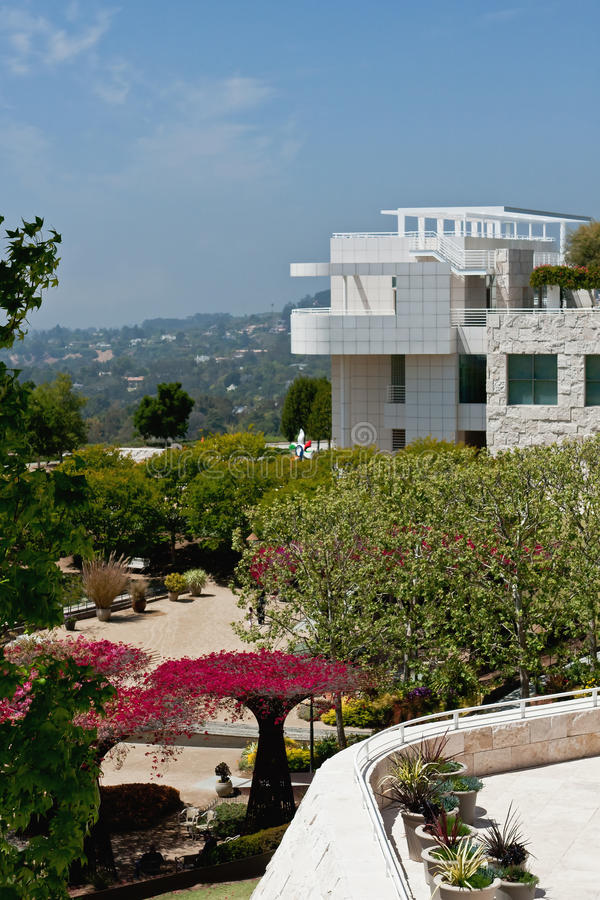 Getty Center. The Getty Center at Los Angeles. A beautiful museum, from the Paul Getty Foundation and designed by Richard Meier stock image