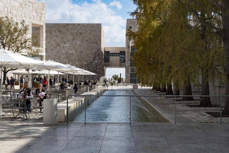 The Getty Center, campus of the Getty Museum. royalty free stock photo