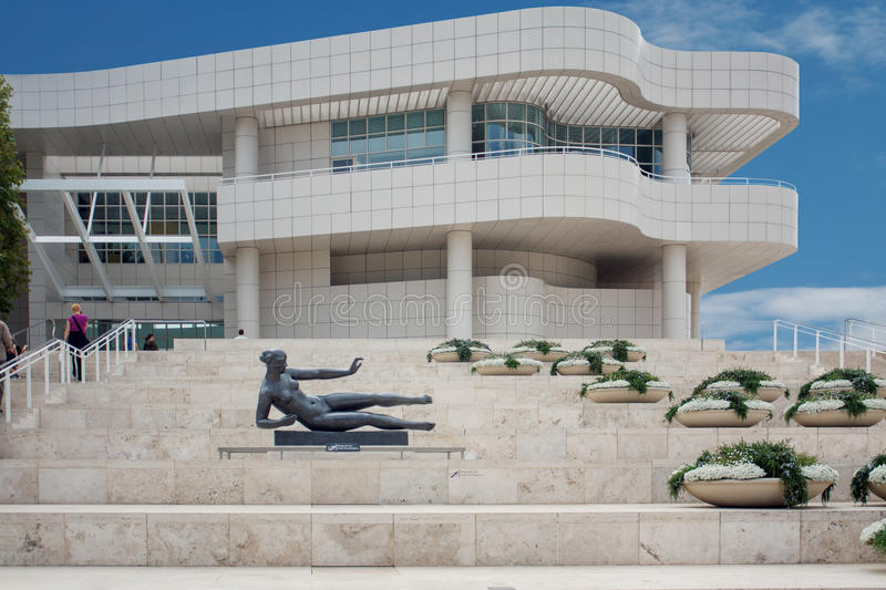 The Getty Center museum. LOS ANGELES, USA - JUNE 4, 2009: The Getty Center museum in Los Angeles California USA was designed by architect Richard Meier in 1997 stock images