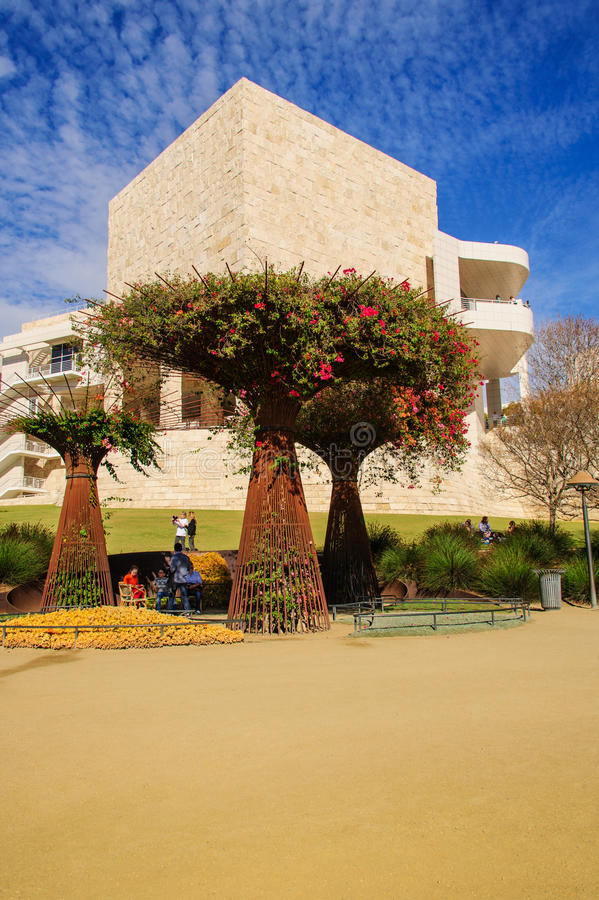 Getty Garden & Exhibit Gallery royalty free stock photos